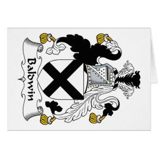 Escudo de la familia de Baldwin Tarjeta De Felicitación