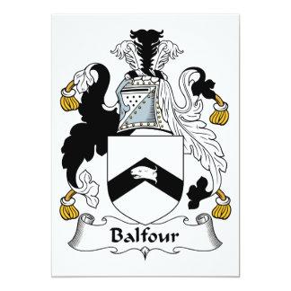 """Escudo de la familia de Balfour Invitación 5"""" X 7"""""""