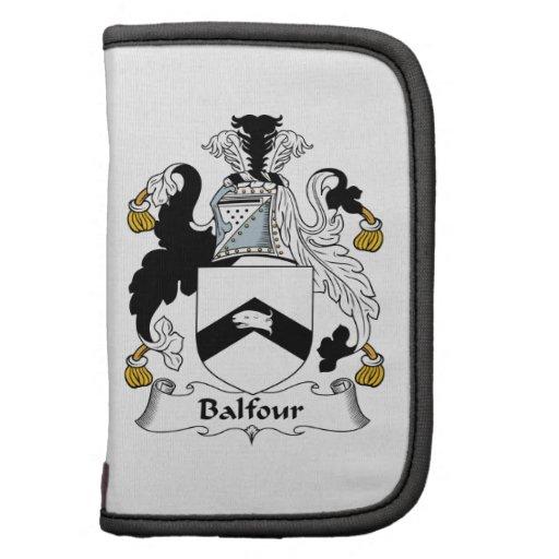 Escudo de la familia de Balfour Organizadores