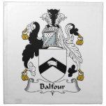 Escudo de la familia de Balfour Servilletas Imprimidas