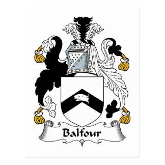 Escudo de la familia de Balfour Tarjeta Postal