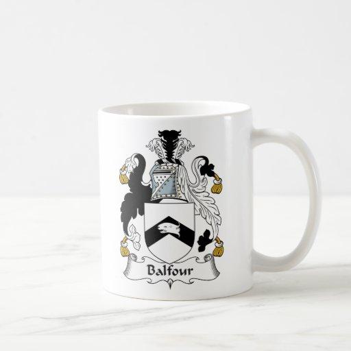 Escudo de la familia de Balfour Taza