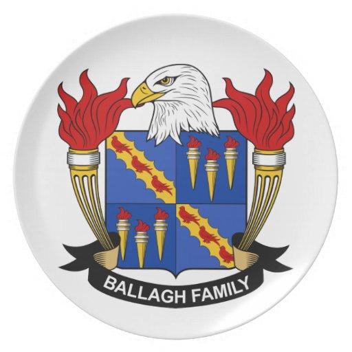 Escudo de la familia de Ballagh Plato De Cena