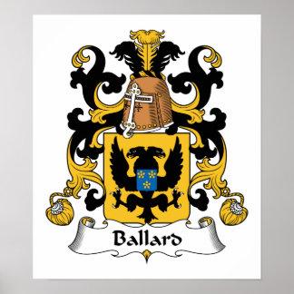 Escudo de la familia de Ballard Posters