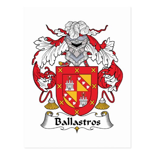 Escudo de la familia de Ballastros Postal