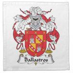 Escudo de la familia de Ballastros Servilletas