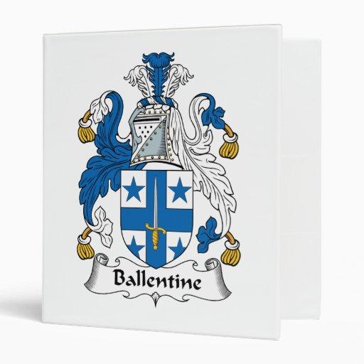 """Escudo de la familia de Ballentine Carpeta 1"""""""