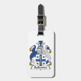 Escudo de la familia de Ballentine Etiquetas Maletas