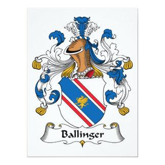 """Escudo de la familia de Ballinger Invitación 6.5"""" X 8.75"""""""