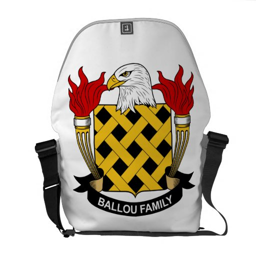 Escudo de la familia de Ballou Bolsa De Mensajeria