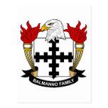 Escudo de la familia de Balmanno Postal