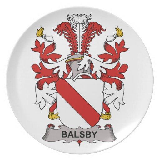 Escudo de la familia de Balsby Platos De Comidas