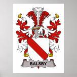 Escudo de la familia de Balsby Posters