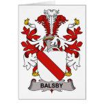 Escudo de la familia de Balsby Tarjetas