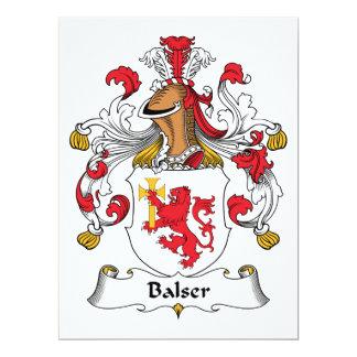 """Escudo de la familia de Balser Invitación 6.5"""" X 8.75"""""""