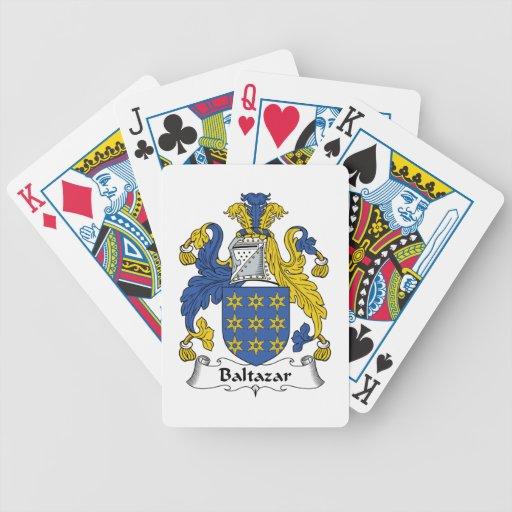 Escudo de la familia de Baltazar Baraja Cartas De Poker