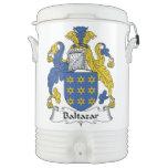 Escudo de la familia de Baltazar Vaso Enfriador Igloo