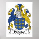 Escudo de la familia de Baltazar Posters