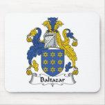 Escudo de la familia de Baltazar Alfombrillas De Ratones