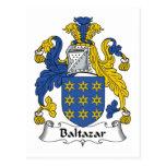 Escudo de la familia de Baltazar Tarjetas Postales