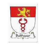 Escudo de la familia de Balthasar Lienzo Envuelto Para Galerías