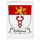 Escudo de la familia de Balthasar Tarjeta
