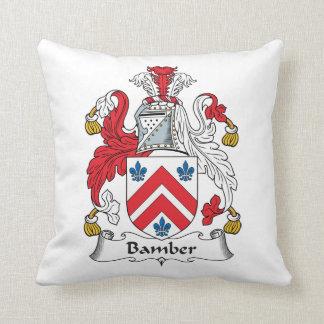 Escudo de la familia de Bamber Almohada