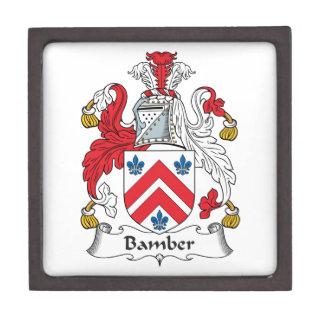Escudo de la familia de Bamber Caja De Recuerdo De Calidad