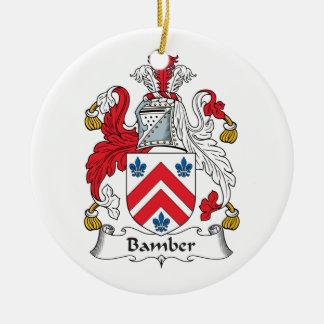 Escudo de la familia de Bamber Ornamentos De Navidad