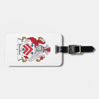 Escudo de la familia de Bamber Etiquetas Maleta