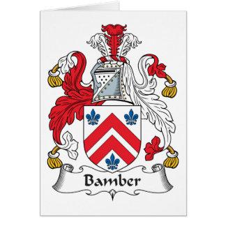 Escudo de la familia de Bamber Felicitaciones