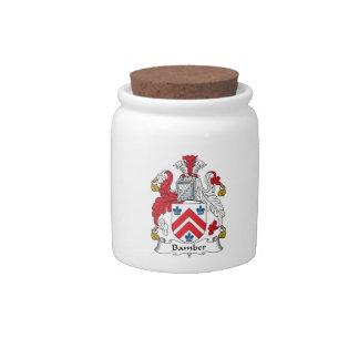Escudo de la familia de Bamber Platos Para Caramelos