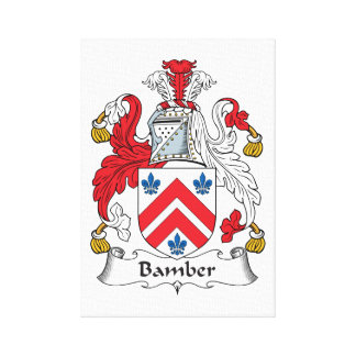 Escudo de la familia de Bamber Impresiones En Lona Estiradas