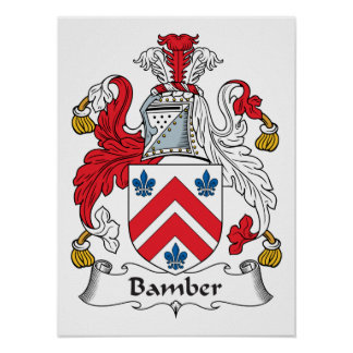 Escudo de la familia de Bamber Poster