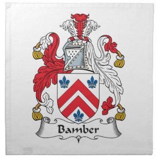 Escudo de la familia de Bamber Servilletas De Papel