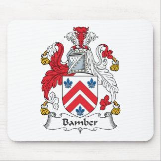 Escudo de la familia de Bamber Alfombrillas De Ratones