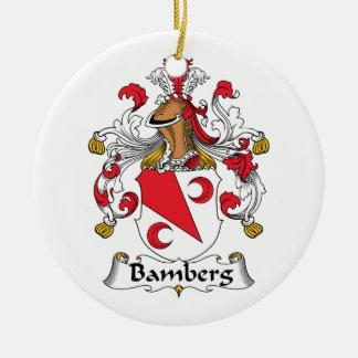Escudo de la familia de Bamberg Adorno Redondo De Cerámica