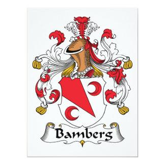 Escudo de la familia de Bamberg Invitación 16,5 X 22,2 Cm