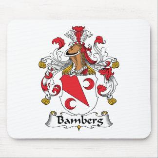 Escudo de la familia de Bamberg Alfombrillas De Raton