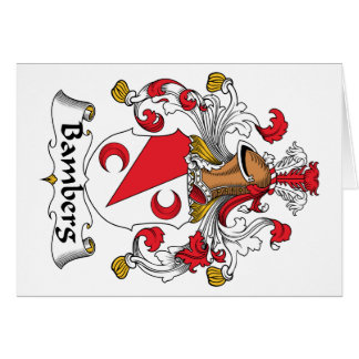 Escudo de la familia de Bamberg Felicitacion
