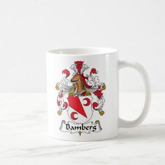 Escudo de la familia de Bamberg Tazas De Café