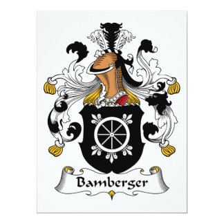 """Escudo de la familia de Bamberger Invitación 6.5"""" X 8.75"""""""