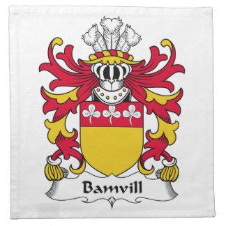 Escudo de la familia de Bamvill Servilleta