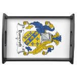 Escudo de la familia de Bancroft Bandejas