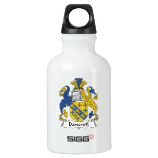 Escudo de la familia de Bancroft Botella De Agua