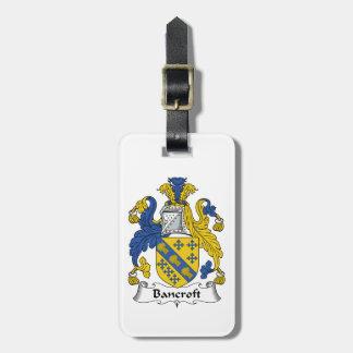 Escudo de la familia de Bancroft Etiqueta De Maleta