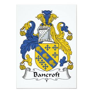 """Escudo de la familia de Bancroft Invitación 5"""" X 7"""""""