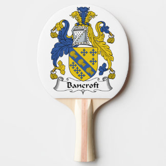 Escudo de la familia de Bancroft Pala De Tenis De Mesa