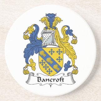 Escudo de la familia de Bancroft Posavasos Manualidades