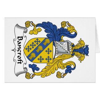 Escudo de la familia de Bancroft Tarjeta De Felicitación